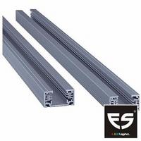 Rail 1 fase 1 meter zilver