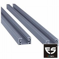 Rail 1 fase 2 meter zilver
